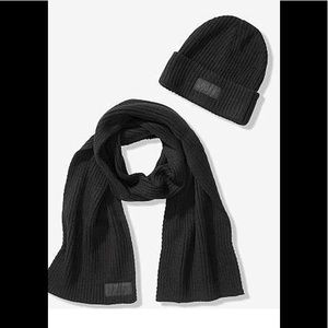 PINK Victoria's Secret Accessories - Victoria's Secret PINK Beanie Hat and Scarf Set
